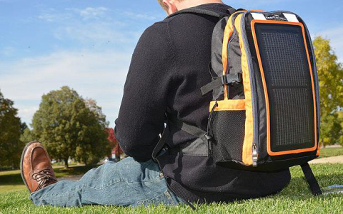 Flexible and lightweight solar cell based backpack makes it easy to produce electricity in remote areas
